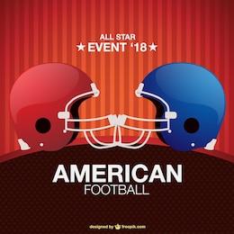 Diseño de cartel de fútbol americano