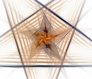 Diseño de elementos en la forma de un pentago