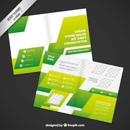 Diseño de folleto Verde