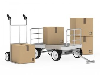 Diseño de fondo de entrega de paquetes