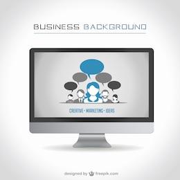 Diseño de fondo de negocios