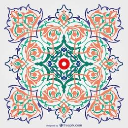 Diseño de fondo decorativo floral