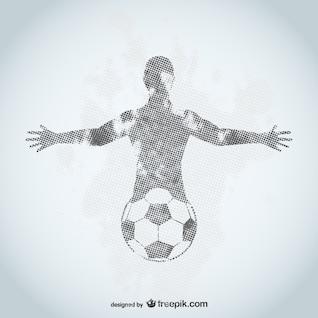 Diseño de jugador de fútbol grunge