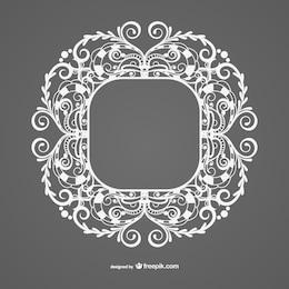 Diseño de marco blanco estilo vintage