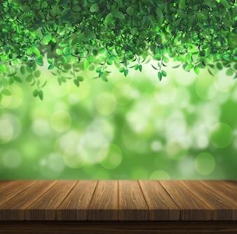Diseño de naturaleza con efecto bokeh