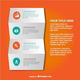 Diseño de papel doblado para infografía