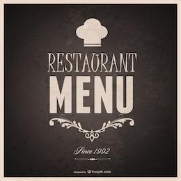 Diseño de plantilla de menú de restaurante