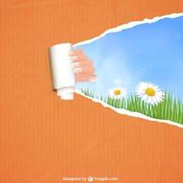 Diseño de plantilla de primavera