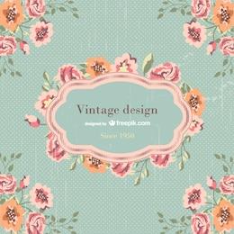 Diseño de plantilla vintage