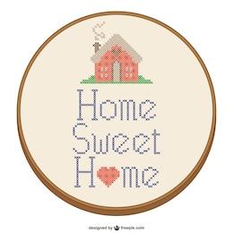 Diseño de punto de cruz de Hogar dulce hogar