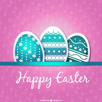 Diseño de tarjeta con huevos de Pascua