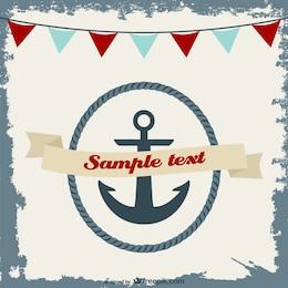 Diseño de tarjeta de invitación náutica