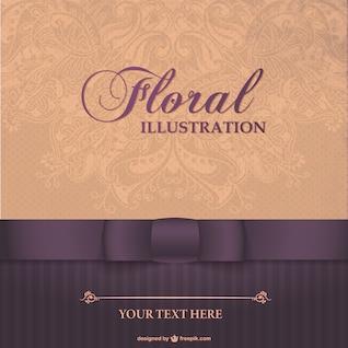 Diseño de tarjeta elegante floral