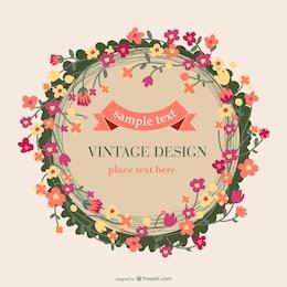 Diseño de tarjeta floral vintage