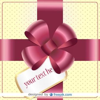 Diseño de tarjeta vector de cinta de regalo