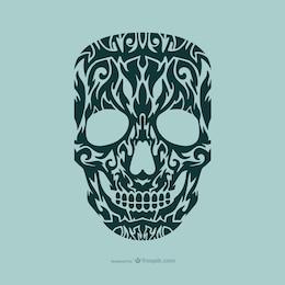 Diseño de tatuaje de calavera