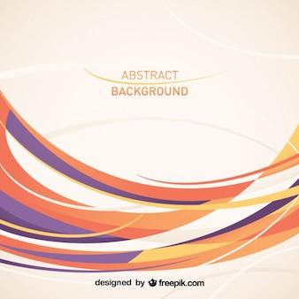 Diseño de vector de líneas curvas abstracto