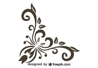 Diseño floral de esquina