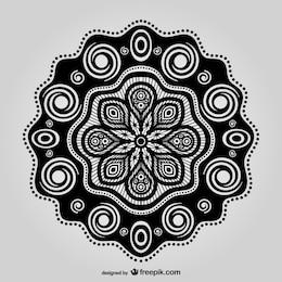 Diseño floral oriental