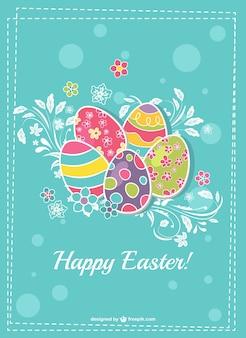 Diseño imprimible de tarjeta de Pascua