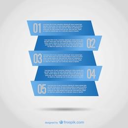 Diseño infográfico con etiquetas azules