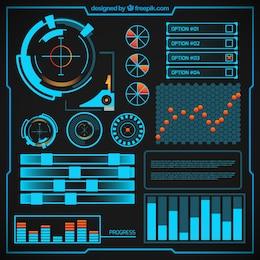 Diseño infográfico Futurista