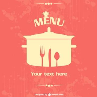 Diseño menú de restaurante vectorial