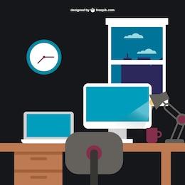 Diseño plano oficina de trabajo