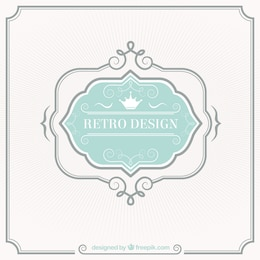 Diseño retro etiqueta