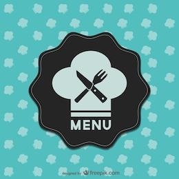 Diseño retro menú de restaurante
