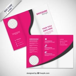 Diseño rosado folleto