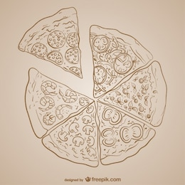 Diseño vectorial de pizza