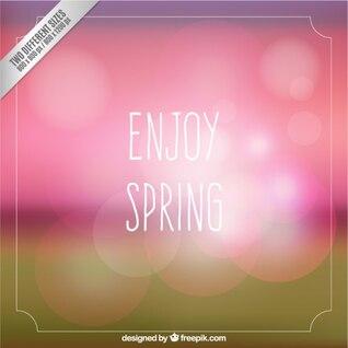 Disfruta de la primavera tarjeta