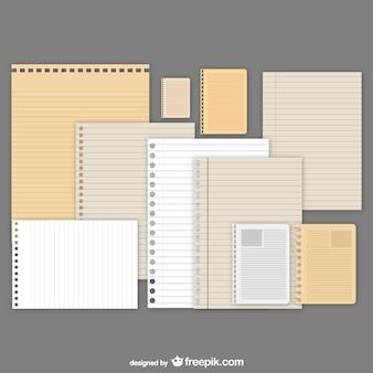 Conjunto de texturas de papel