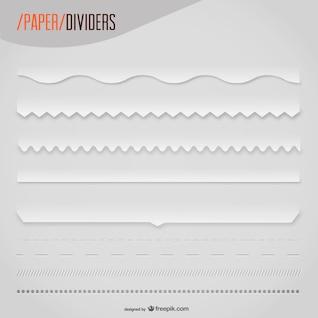 Divisores de texto con textura de papel