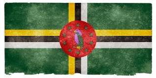 dominica grunge bandera antiguo