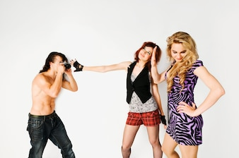 Dos chicas y un fotógrafo