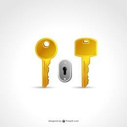Dos llaves y un ojo de cerradura