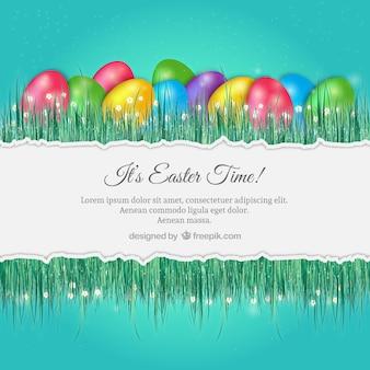 Fondo de Pascua con huevos de colores