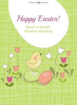 Plantilla de tarjeta para Pascua