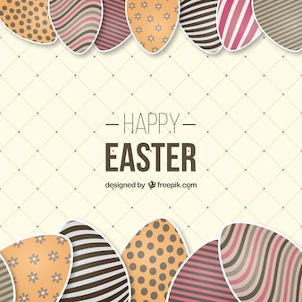 Pascua tarjeta de huevos