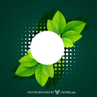 Eco Friendly Hojas Label