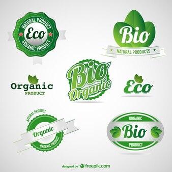 Etiquetas de alimentos ecológicos