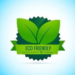 Eco Label amistoso con la bandera