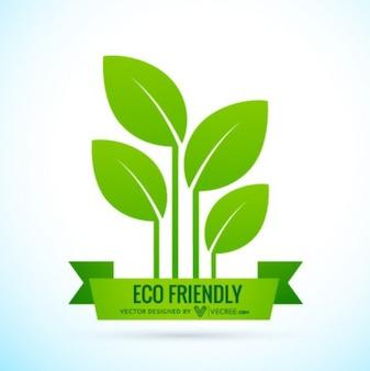 Eco logotipo amistoso con la bandera