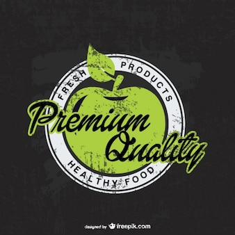 Logo de manzanas de calidad