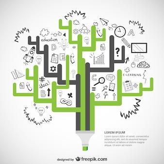 Plantilla infográfica de ecología