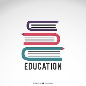 Logo de educación con libros