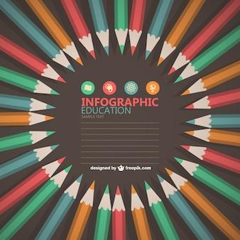 Diseño gratis infografía educativa