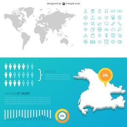 EE.UU. mapa infográfico